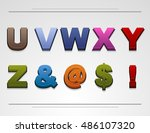 vector alphabet buttons for web ...