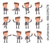 set of funny and cheerful...   Shutterstock .eps vector #486109678