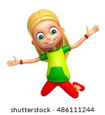 3d rendered illustration of kid ...   Shutterstock . vector #486111244
