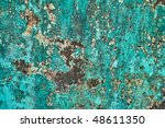 Turquoise Wall Grunge Abstract...