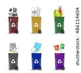 waste management. waste...   Shutterstock .eps vector #486114604