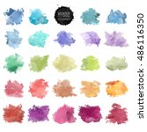 vector watercolor background.... | Shutterstock .eps vector #486116350