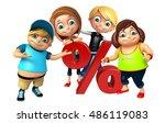 3d rendered illustration of kid ... | Shutterstock . vector #486119083