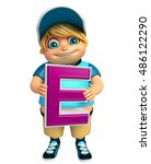 3d rendered illustration of kid ... | Shutterstock . vector #486122290