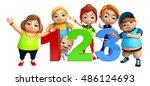 3d rendered illustration of kid ... | Shutterstock . vector #486124693