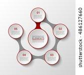 infographics template. metaball ... | Shutterstock .eps vector #486127660