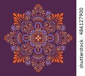 mandala  vector mandala  floral ... | Shutterstock .eps vector #486127900