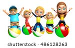 3d rendered illustration of kid ... | Shutterstock . vector #486128263