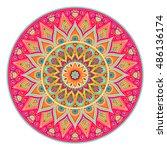 mandala  vector mandala  floral ... | Shutterstock .eps vector #486136174