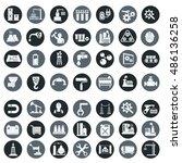 vector industry factory icons... | Shutterstock .eps vector #486136258
