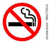 no smoking sign vector icon. | Shutterstock .eps vector #486173413