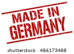 made in germany stamp. germany... | Shutterstock .eps vector #486173488
