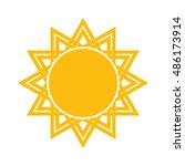 sun vector icon | Shutterstock .eps vector #486173914