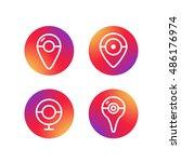 different simple web navigation ... | Shutterstock .eps vector #486176974