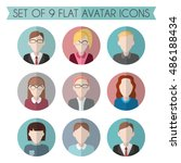 set of flat avatar icons. male... | Shutterstock .eps vector #486188434