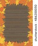autumn maple leaves. vector... | Shutterstock .eps vector #486200050