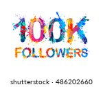 100k  one hundred thousand ... | Shutterstock .eps vector #486202660