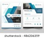 blue technology business... | Shutterstock .eps vector #486206359
