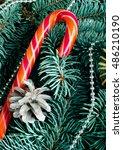 christmas caramel  fir tree... | Shutterstock . vector #486210190