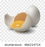realistic egg on transparent... | Shutterstock .eps vector #486214714
