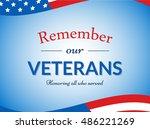 veterans day vector... | Shutterstock .eps vector #486221269