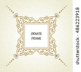 vector decorative frame.... | Shutterstock .eps vector #486223918