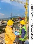 construction work  business plan | Shutterstock . vector #486224380