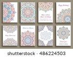 vector cards set. wedding... | Shutterstock .eps vector #486224503