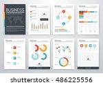 infographic vector set.... | Shutterstock .eps vector #486225556