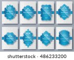set of luxury colors artistic... | Shutterstock .eps vector #486233200