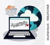 music online and media design | Shutterstock .eps vector #486241468
