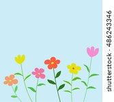 flower background vector ...   Shutterstock .eps vector #486243346