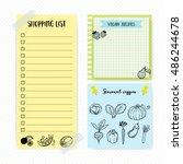 set of simple flat design memo... | Shutterstock .eps vector #486244678
