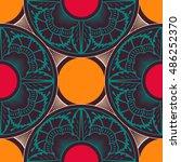 abstract seamless patchwork... | Shutterstock . vector #486252370