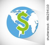 global economy planet concept... | Shutterstock .eps vector #486254110
