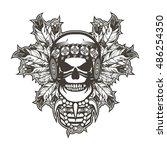 stock vector indian skull chief ...