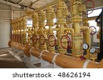 input gas pipeline. collection... | Shutterstock . vector #48626194