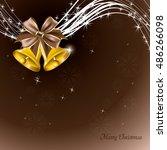 christmas background. shiny... | Shutterstock .eps vector #486266098