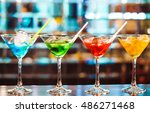 multicolored cocktails at the... | Shutterstock . vector #486271468