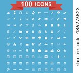 100 icon set. vector concept... | Shutterstock .eps vector #486276823