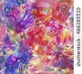 art seamless texture background ... | Shutterstock . vector #486283510
