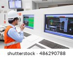 electrical engineer working at... | Shutterstock . vector #486290788
