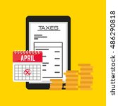 tax payment online icon vector...   Shutterstock .eps vector #486290818