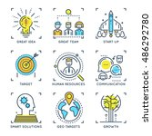 business elements linear... | Shutterstock .eps vector #486292780