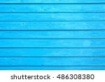 bright blue wooden panelling  ...