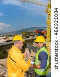 constructor work  business plan | Shutterstock . vector #486321034