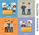 business life design concept... | Shutterstock . vector #486327436