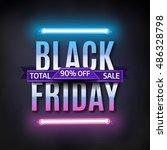 black friday sale inscription... | Shutterstock .eps vector #486328798