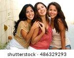 beautiful latin women | Shutterstock . vector #486329293