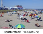 ocean city  new jersey  usa  ... | Shutterstock . vector #486336070